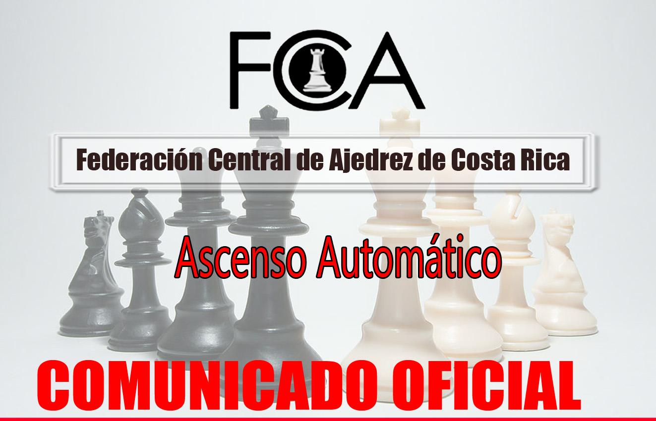 Comunicado Importante: Ascenso automático en Torneos Clasificatorios de Tercera hacia la Segunda División y en Torneos Clasificatorios de Segunda División hacia la Primera División