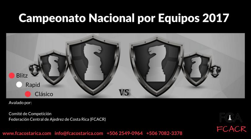 Convocatoria: Campeonato Nacional por Equipos 2017