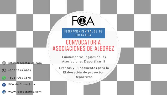 CONVOCATORIA ASOCIACIONES DE AJEDREZ