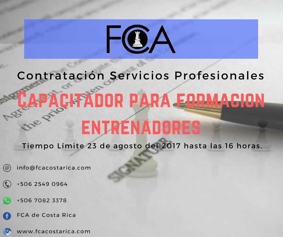Contratación de servicios profesionales de una persona física para impartir capacitaciones para la formación y actualización de entrenadores en todo el país