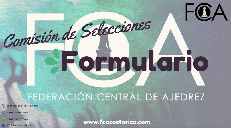 Formulario: «SOLICITUD DE PERMISO PARA PARTICIPAR EN TORNEOS NACIONALES»