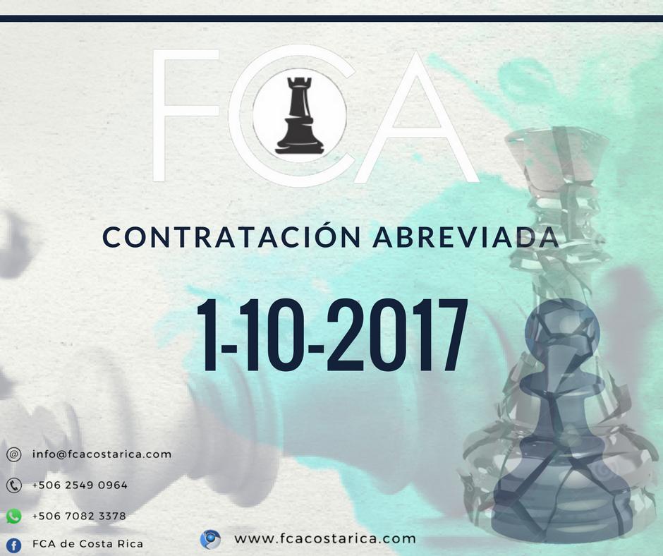 Contratación Abreviada Número 1-10-2017
