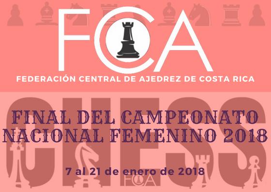 Convocatoria: FINAL DEL CAMPEONATO NACIONAL FEMENINO 2018