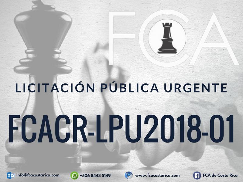 Licitación Pública Urgente FCACR-LPU2018-01