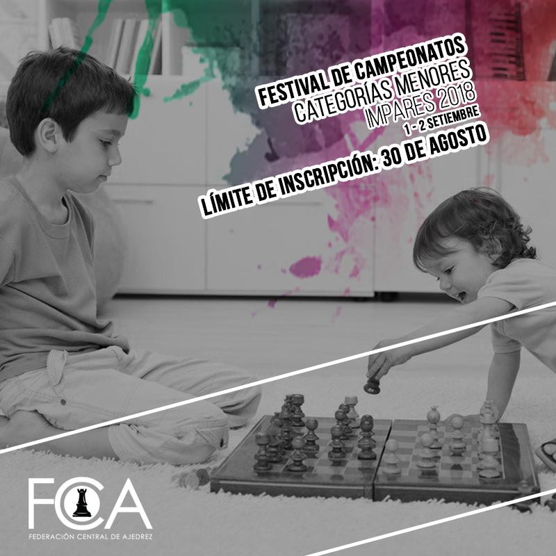 Festival de Campeonatos Nacionales Menores Impares 2018