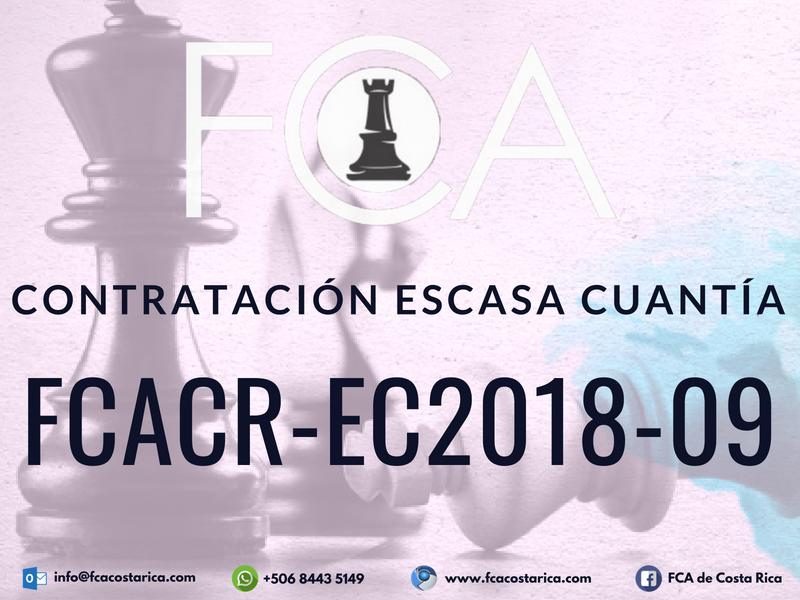 Contratación de Escasa Cuantía FCACR-EC2018-09