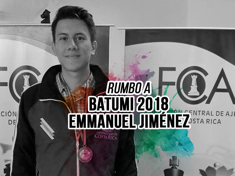 Rumbo a Batumi: Emmanuel Jiménez