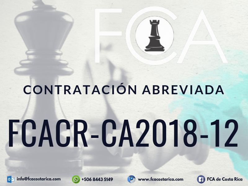 Contratación Abreviada FCACR-CA2018-12