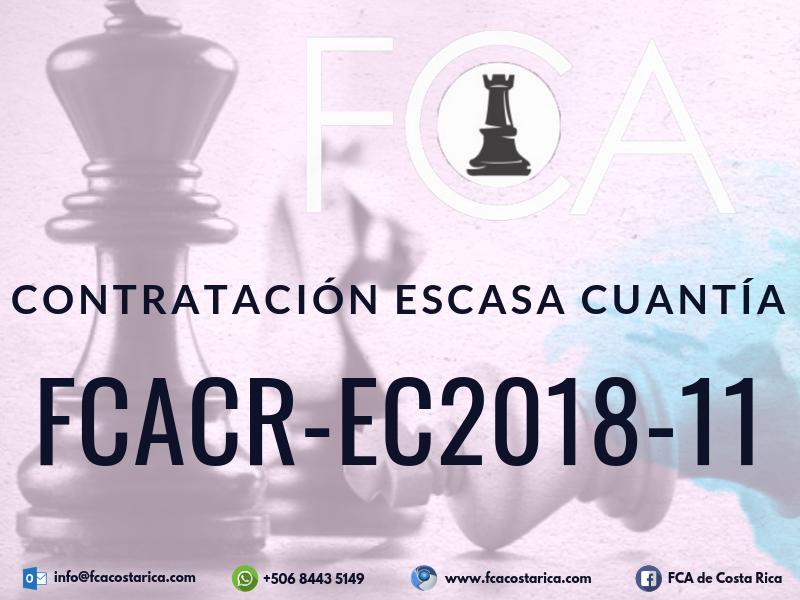 Contratación de Escasa Cuantía FCACR-EC2018-11