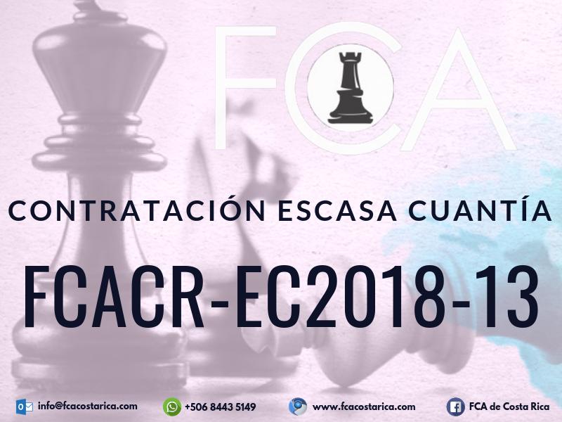 Contratación de Escasa Cuantía FCACR-EC2018-13