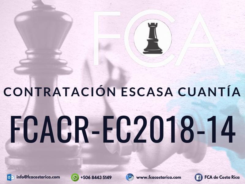 Contratación de Escasa Cuantía FCACR-EC2018-14