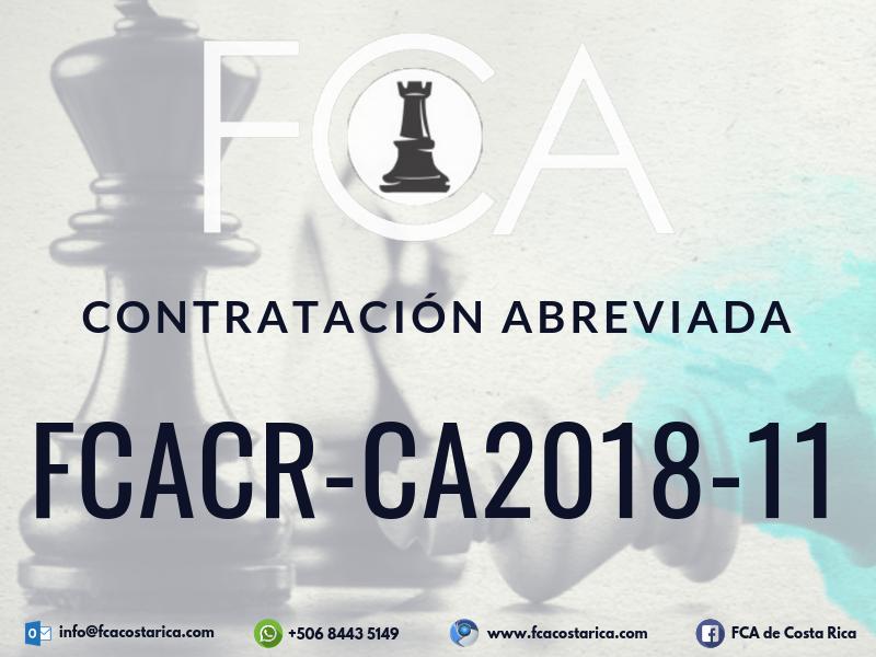 Contratación Abreviada FCACR-CA2018-11