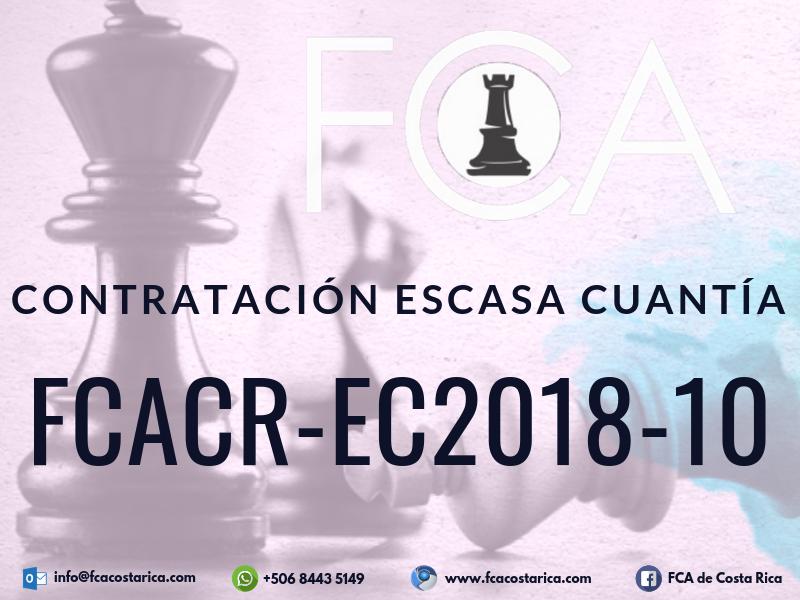 Contratación de Escasa Cuantía FCACR-EC2018-10