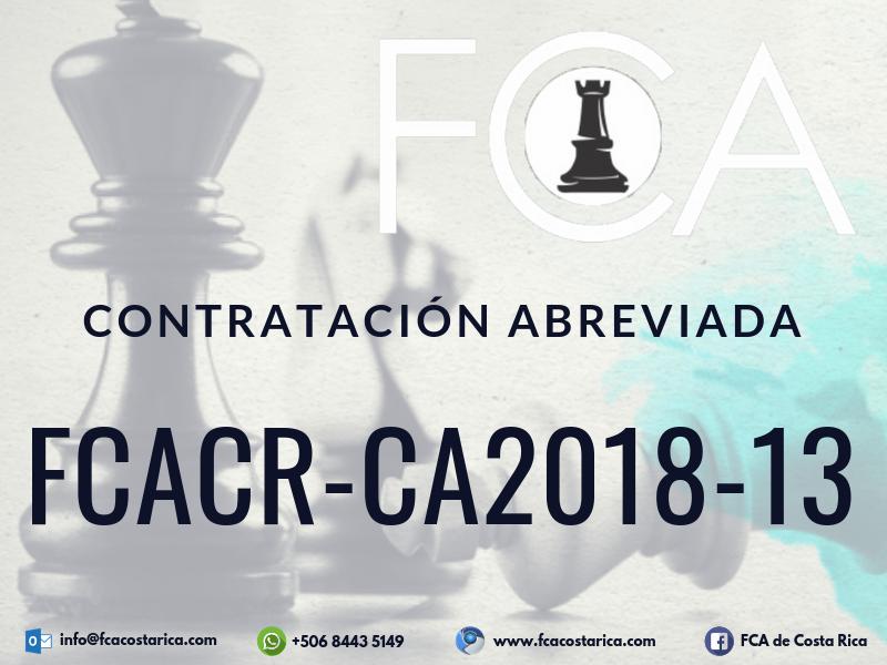 Contratación Abreviada FCACR-CA2018-13