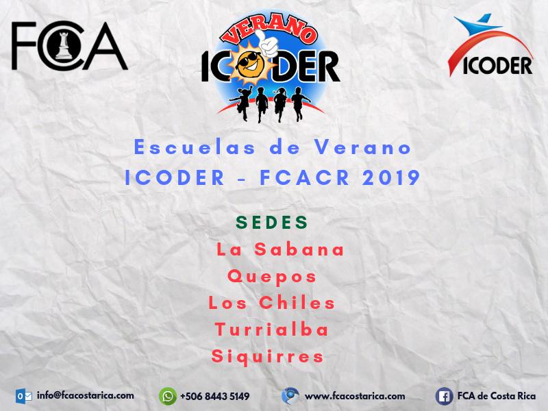 Escuelas de Verano ICODER 2019