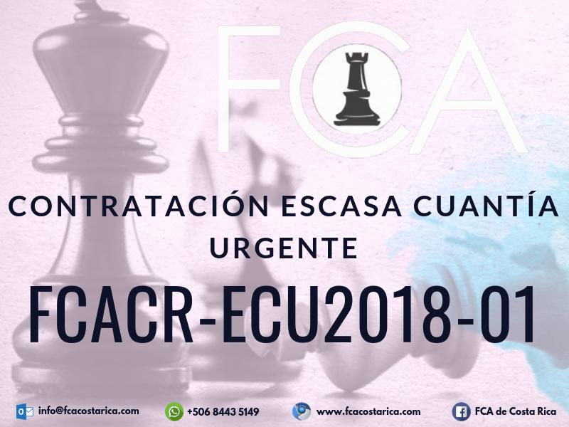 Contratación de Escasa Cuantía FCACR-ECU2018-01