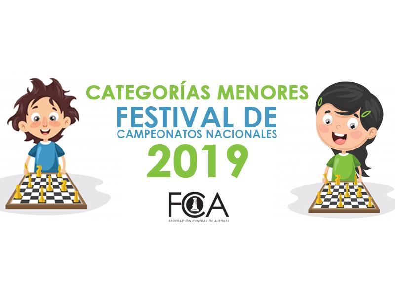 Festival de Campeonatos Nacionales de Categorías Menores 2019