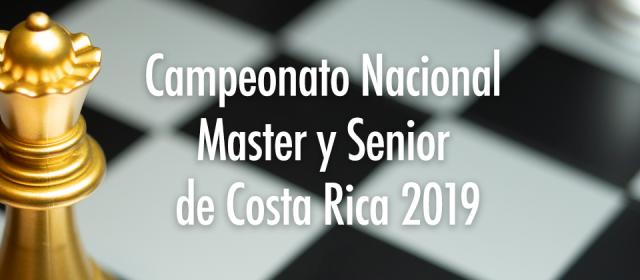 Bases del Campeonato Nacional Master y Senior de Costa Rica 2019