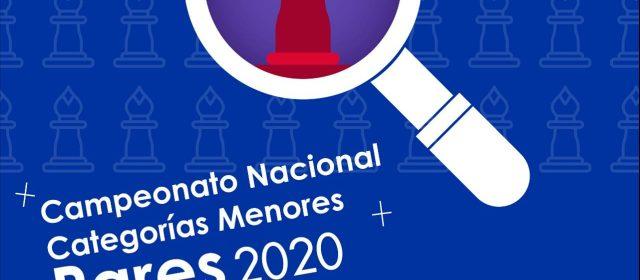 Campeonato Nacional Categorías Menores Pares 2020