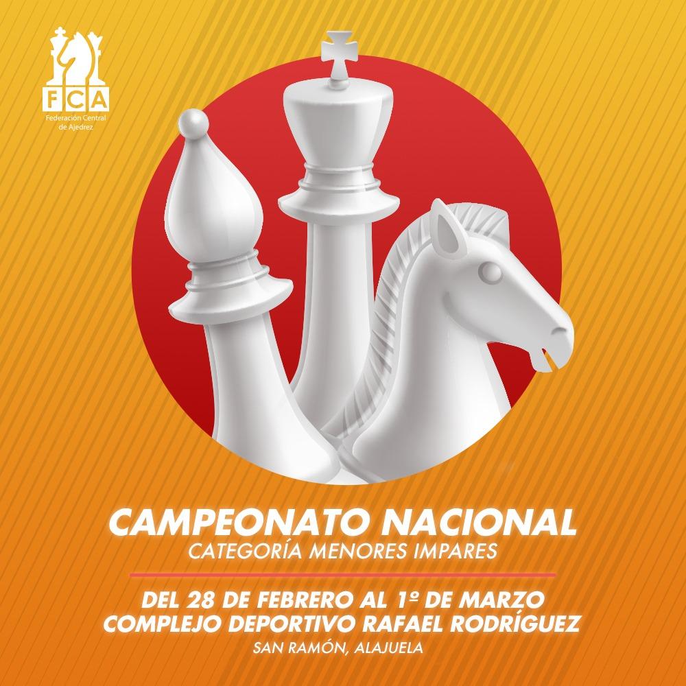 CAMPEONATO NACIONAL CATEGORÍAS MENORES IMPARES 2020