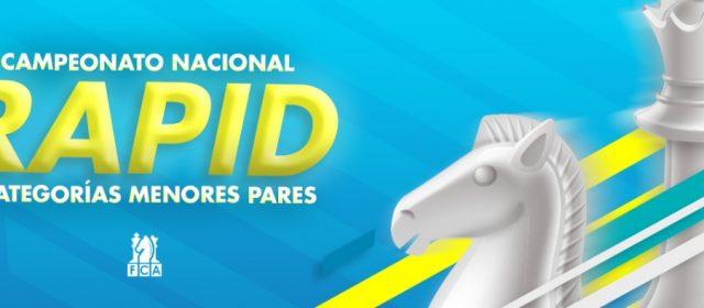 BASES ESPECÍFICAS CAMPEONATO NACIONAL RAPID DE CATEGORÍAS MENORES PARES 2020