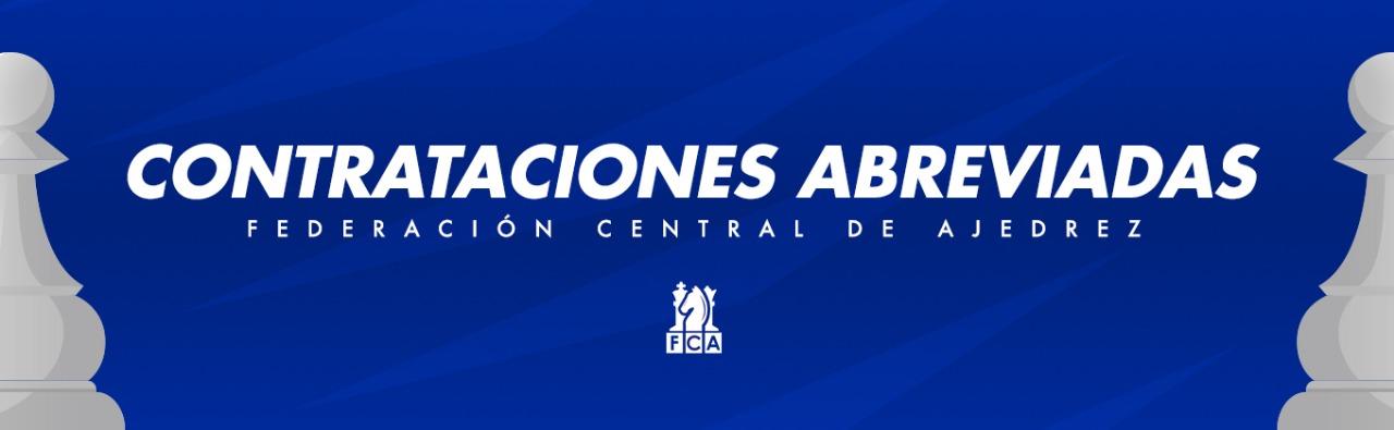 """LICITACIÓN ABREVIADA FCACR-CA2021-06 """"CONTRATACIÓN DE SERVICIOS PROFESIONALES PARA PREPARAR UN PROGRAMA DE FORMACIÓN ARBITRAL DE AJEDREZ"""""""