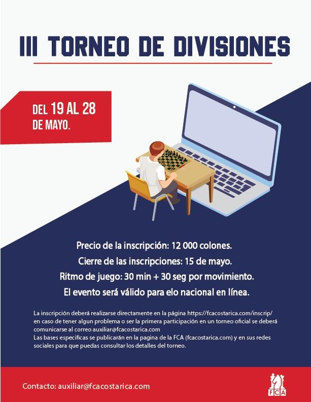 BASES ESPECÍFICAS III TORNEO DE DIVISIONES 2021
